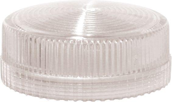 Lampenglas geriffelt für Meldeleuchte mit LED Weiß