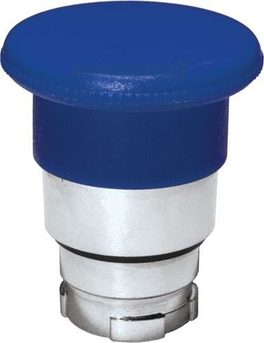 Pilzdrucktaster Metall 40mm tastend Blau
