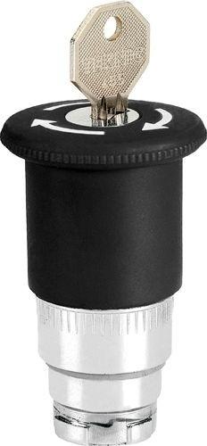 Pilzdrucktaster Metall 40mm überlistungssicher Schlüsselentriegelung 455 Schwarz