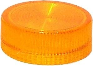 Lampenglas geriffelt für beleuchteten Drucktaster mit LED Orange