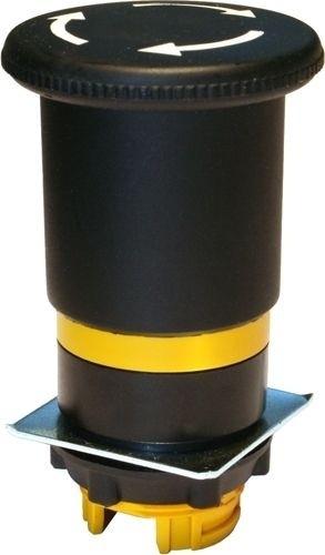 Pilzdrucktaster Plastik 40mm überlistungssicher Drehentriegelung Schwarz