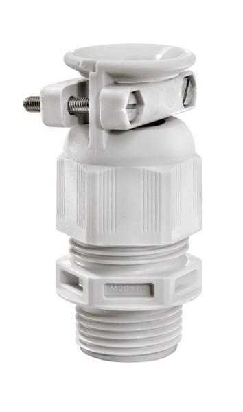 SPRINT-Kabelverschraubung mit externer Zugentlastung, RAL7035 grau, ESKVZ 16, M16x1,5, 4,5 - 10 mm