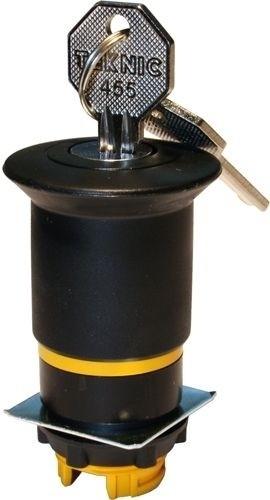 Pilzdrucktaster Plastik 40mm überlistungssicher Schlüsselentriegelung 455 Schwarz