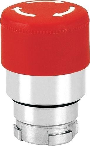 Pilzdrucktaster Metall 30mm tastend Rot