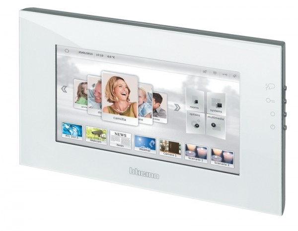 "MULTIMEDIA TOUCH SCREEN MH4893 10"" WEISS - My Home LivingLight Bticino"