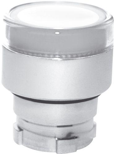 Drucktaster beleuchtet Metall bündig Weiß