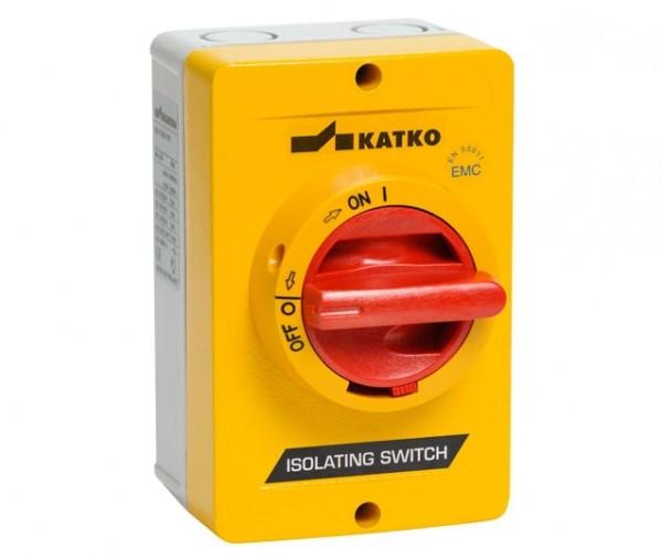 Sicherheitsschalter Trennschalter AC-21:25 A AC-23:16 A2xM25 Kabelverschraubung Gehäuse AL A2 3-polig Gelb/Rot