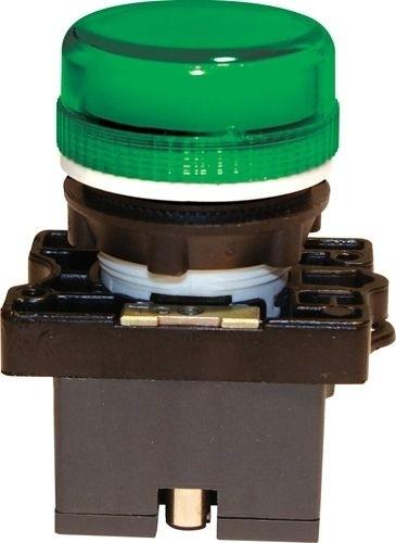 Meldeleuchte Plastik Grün + Fassung + LED 110V