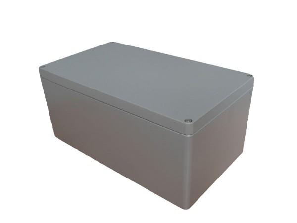 Aluminium-Druckguss-Gehäuse efabox 400x230x180mm IP68 Neoprendichtung RAL7001 Silbergrau