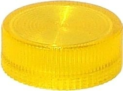 Lampenglas geriffelt für beleuchteten Drucktaster mit LED Gelb