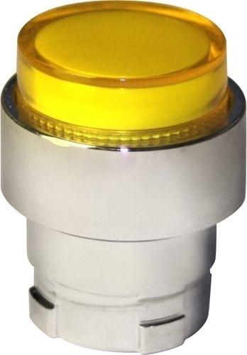 Drucktaster beleuchtet Metall vorstehend Gelb