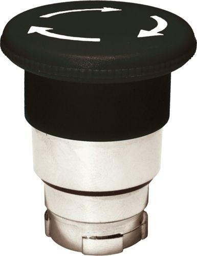 Pilzdrucktaster Metall 40mm Drehentriegelung Schwarz