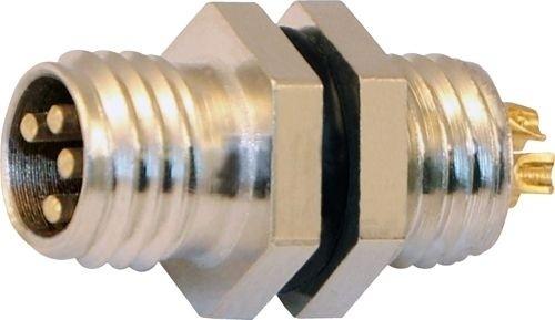 Sensorstecker M8 Stift Vorderwandmontage M8x1 Lötanschluß 4P