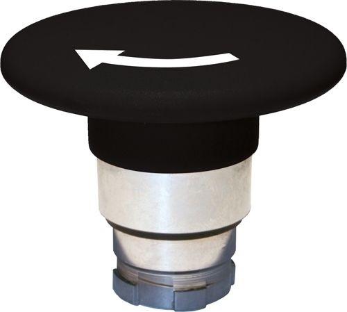 Pilzdrucktaster Metall 60mm Drehentriegelung Schwarz