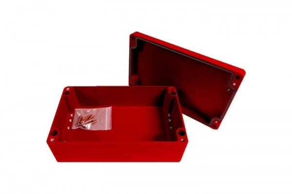 Aluminium-Druckguss-Gehäuse efabox 220x120x81mm IP68 Silikondichtung RAL3001 Rot