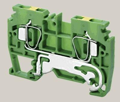 Schutzleiterklemme Zugfederanschluß 0,25-4mm² 800V 32A