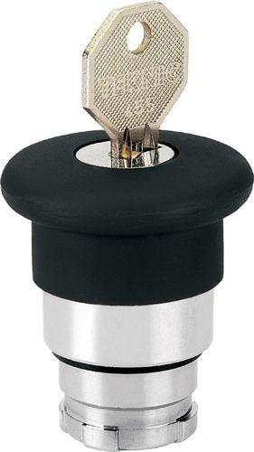 Pilzdrucktaster Metall 40mm Schlüsselentriegelung 455 Schwarz