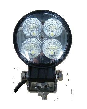 Arbeitsscheinwerfer LED Weiß rund 1 Befestigungsschraube 6-32V 12W 6500K mit Kabel