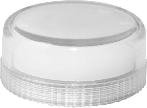 Lampenglas glatt für Meldeleuchte mit Glühlampe Weiß