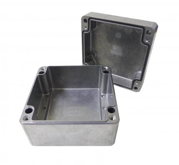 Aluminium-Druckguss-Gehäuse efabox 140x140x91mm IP68 Silikondichtung unbeschichtet