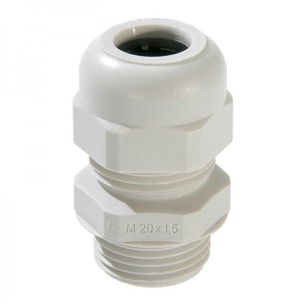 SPRINT-Kabelverschraubung mit Zugentlastung, IP 68, Polyamid, RAL7035 grau, SKV 9, PG9, 4 - 8 mm