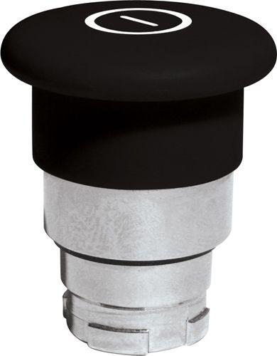 Pilzdrucktaster Metall 40mm Zugentriegelung Schwarz