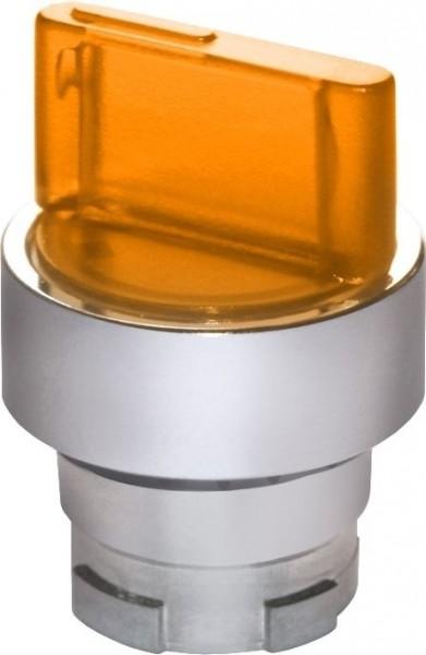 Wahlschalter beleuchtet Metall Orange L(R)