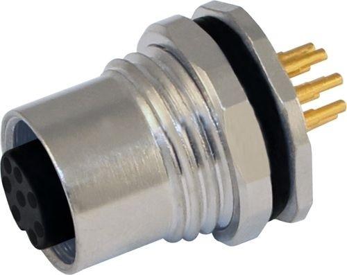 Sensorstecker M12 A-Codierung Buchse Hinterwandmontage PG9 Lötanschluß 8P