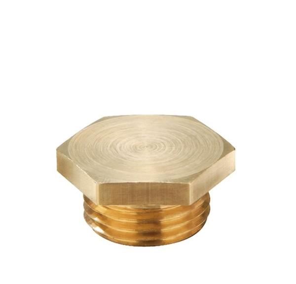 Verschlussschraube metrisch nach DIN 89 280 Messing blank, VSM 36, M36x2