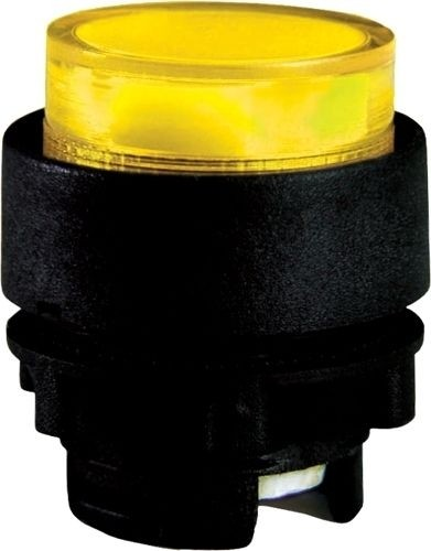 Drucktaster beleuchtet Plastik vorstehend Gelb