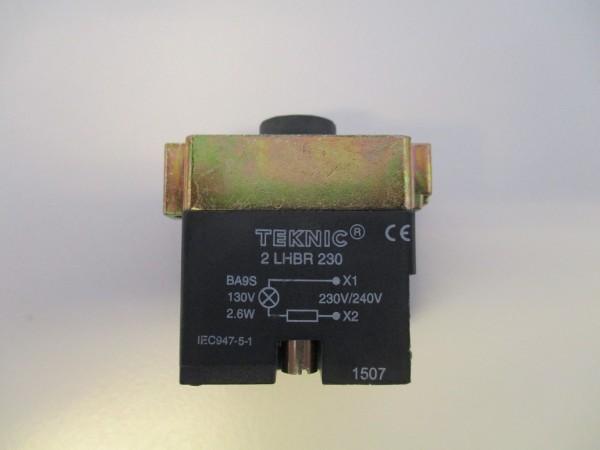 Lampenfassung Metall mit Widerstand 230V