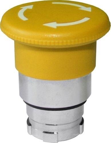 Pilzdrucktaster Metall 40mm Drehentriegelung Gelb