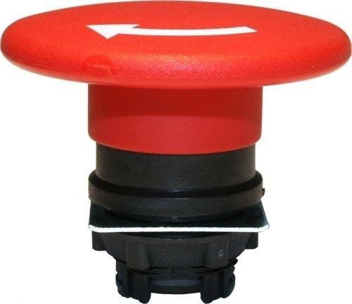 Pilzdrucktaster Plastik 60mm Drehentriegelung Rot